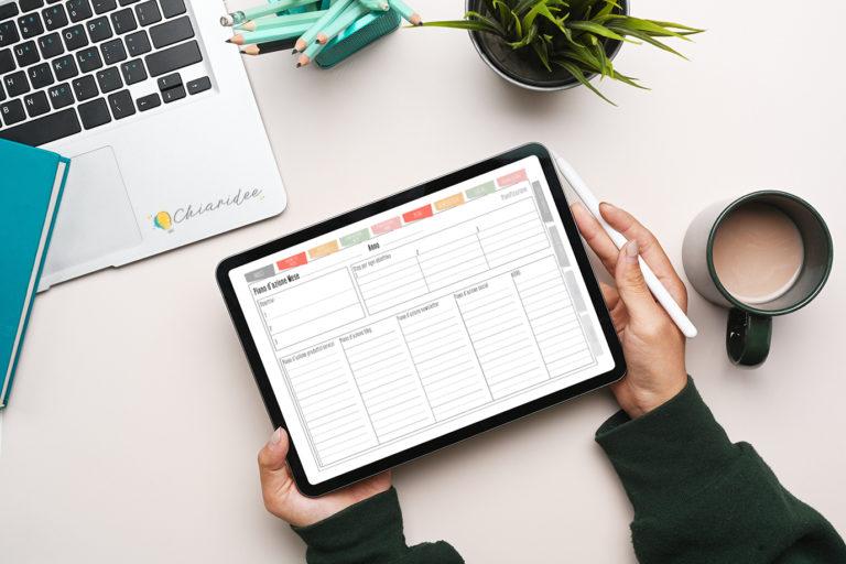 Super Biz Planner Digitale piano d'azione mese