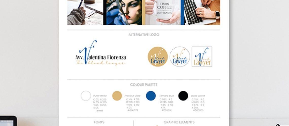 identità visiva in brand board